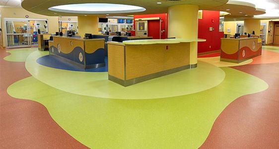 森纳品牌橡胶地板工艺与材质_采用纯天然橡胶原